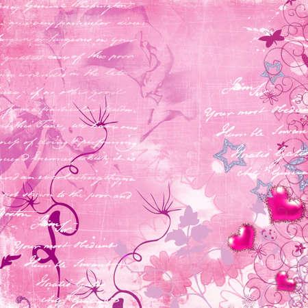 retro pink background photo
