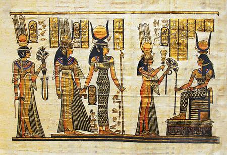egyptian papyrus  photo