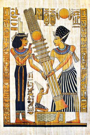 scribes: fine egiptian papyrus Stock Photo