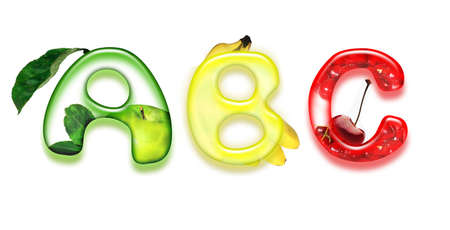 appetizing fonts - alphabet of health photo
