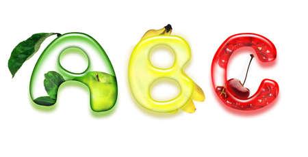 appetizing fonts - alphabet of health photo