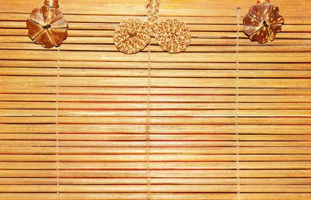 bamboo texture of thai bag  photo