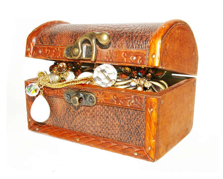 small carved coffer with treasure Stock Photo - 2078223