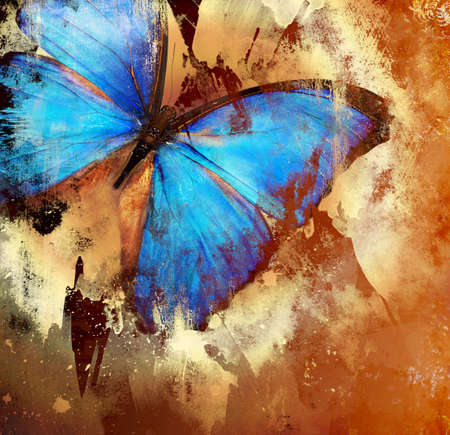 painting with butterfly