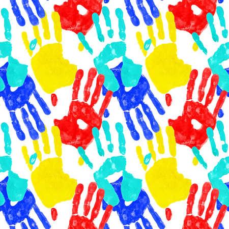 identidad cultural: color mano - concepto de unidad  Foto de archivo