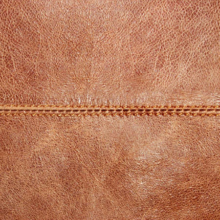 leathery: brown leather with seam