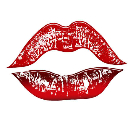 red lips print Stock Photo - 2409959