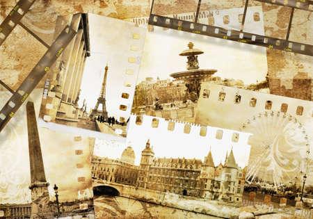 vintage paris: Paris - old photo album