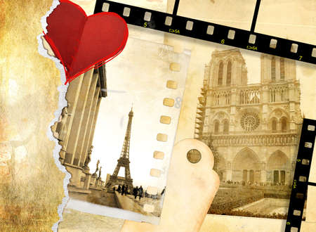 collage art: Paris -  memories Stock Photo