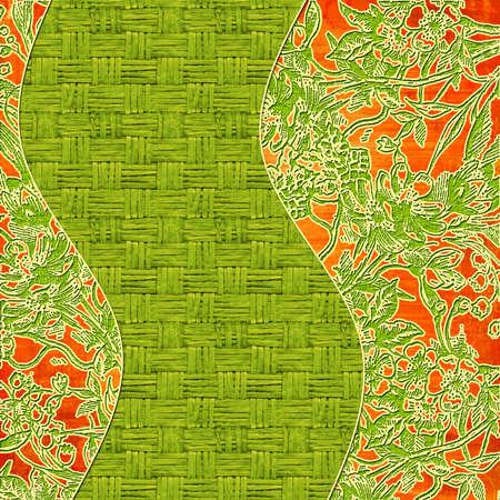 worn: decorative background in oriental style
