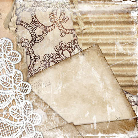 rtro background with lace photo