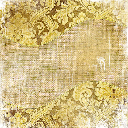 shabby background with golden patterns photo