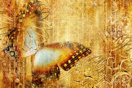 worn: golden butterfly