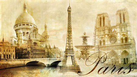 amazing Paris - vintage clipart photo