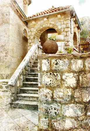 backstreet: mediterranean architecture Stock Photo