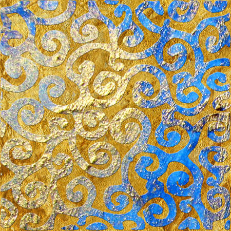 scrap gold: golden-blue patterns