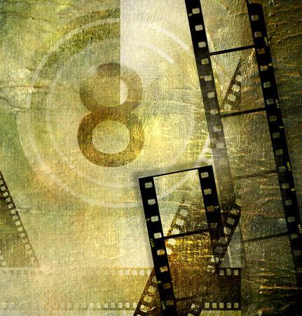 cinema old: vecchia priorit� bassa di film Archivio Fotografico