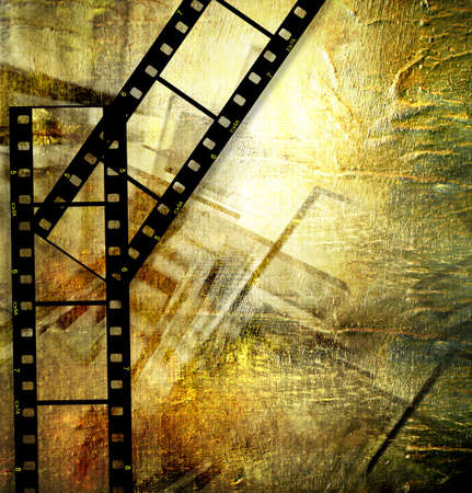 strips: vintage background with film strips