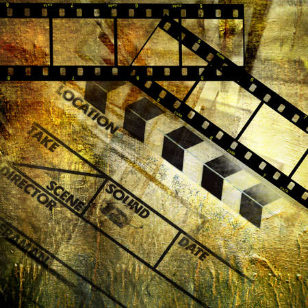 strip structure: retro movie background