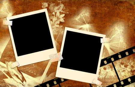 retro background  with film strips photo