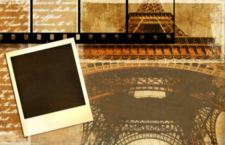 vintage background - Parisian memories Stock Photo - 2899583