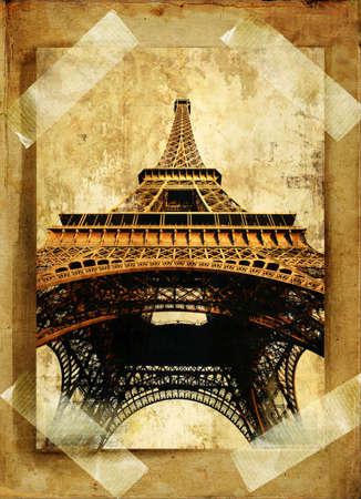 old photoalbum page - Paris Stock Photo - 2899581