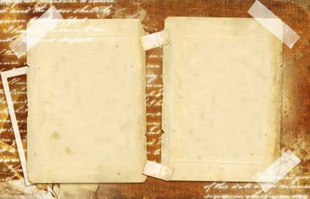 photoalbum: vintage photo-album with blank pages