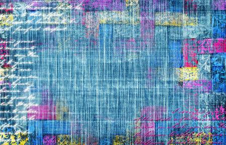 denim background: shabby denim background