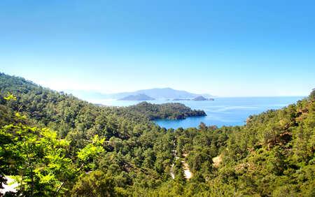 arial views: beautiful view of blue lagoon