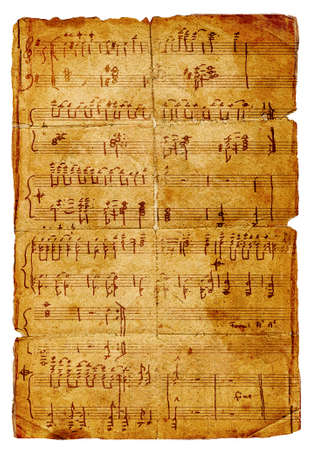 ancient musical page Stock Photo - 3087811
