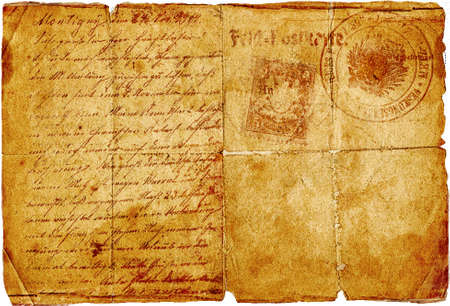 papel quemado: antigua carta