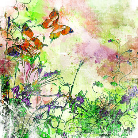 abstract background with butterflies Stock Photo - 3124967