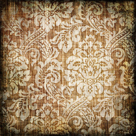retro background with classy patterns Stock Photo