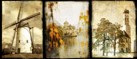 old Europe - vintage collage photo