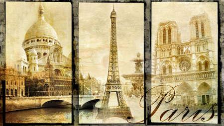 old Paris - vintage clollage photo