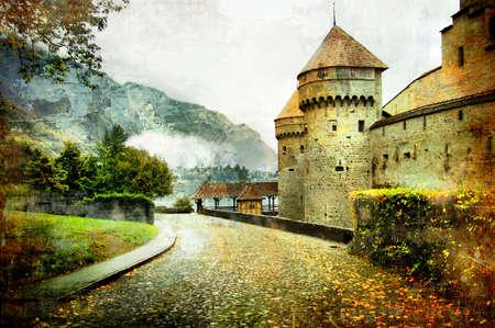 castillo medieval: Suiza castillo - foto art�stica