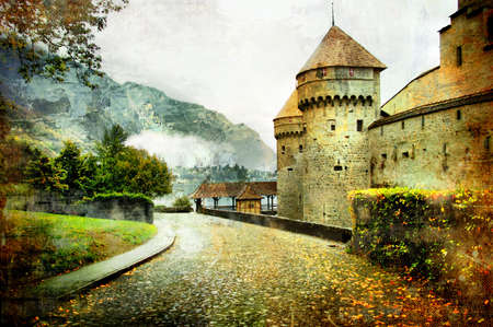 swiss castle - artistic picture   Stock Photo - 3321067