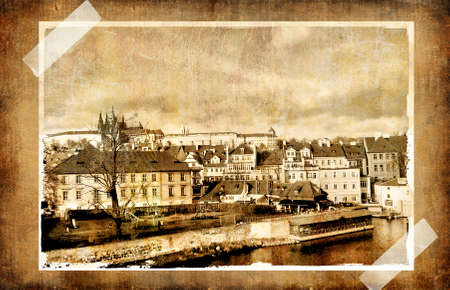 old Prague - vitage photo Stock Photo - 3321071