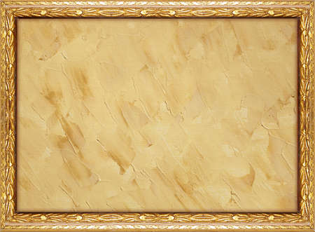 framed background with natural painted canvas photo