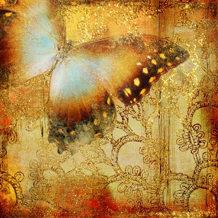 cosecha de fondo con mariposa