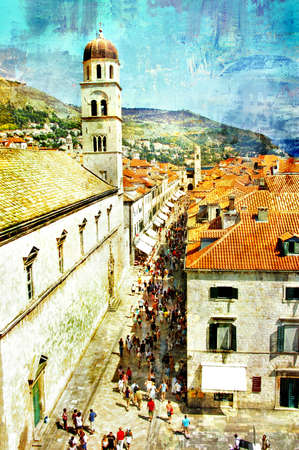 dubrovnik: ancient Dubrovnik - picture in painting style