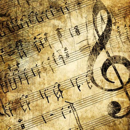 grunge musical background Stock Photo - 3391929