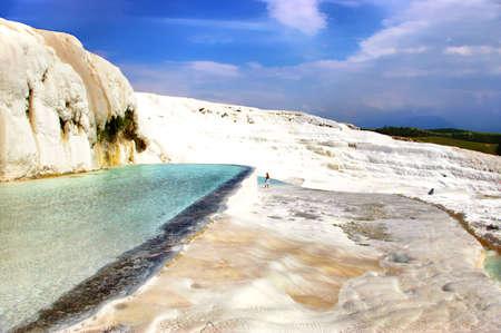 phenomena: pictorial calcium travertine - Turkey, Pamukkale