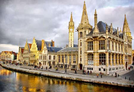 belgium: amazing gothic Belgium  (Gent) Stock Photo