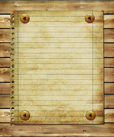 vintage blank page over wooden planks Stock Photo - 3446676