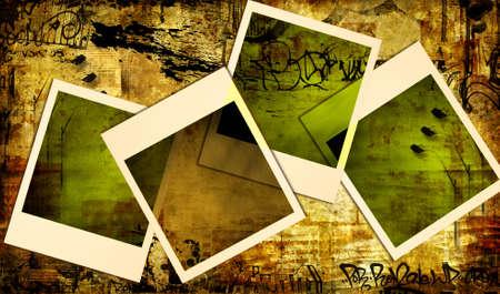 graffiti brown: vintage fondo con marcos