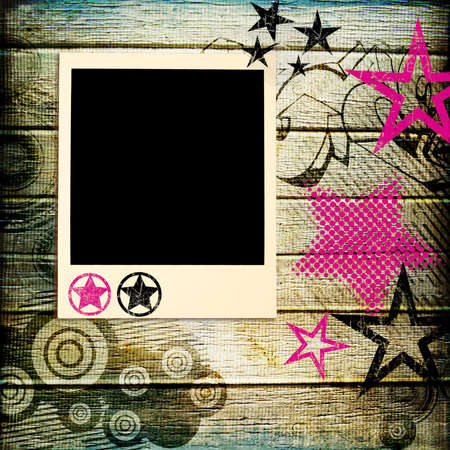 stylish backgroud with polaroid frame photo