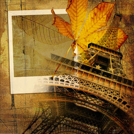autumn in Paris - vintage background Stock Photo - 3678840