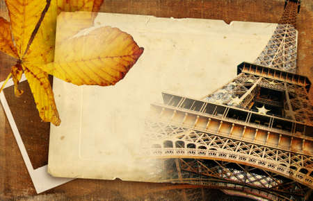 autumn in Paris - vintage background photo