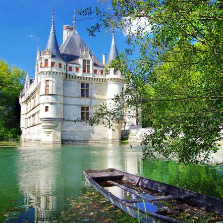 french renaissance: Azey hada-le-redeau castillo - valle del Loira Foto de archivo